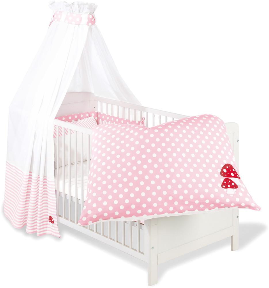 Textil-Set für Kinderbett 4-teilig Glückspilz