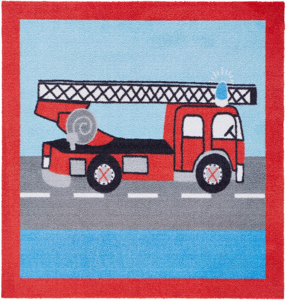 Softvelours Teppich Feuerwehr