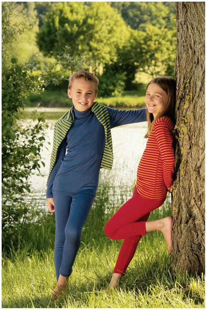 Kinder-Leggings kirschrot