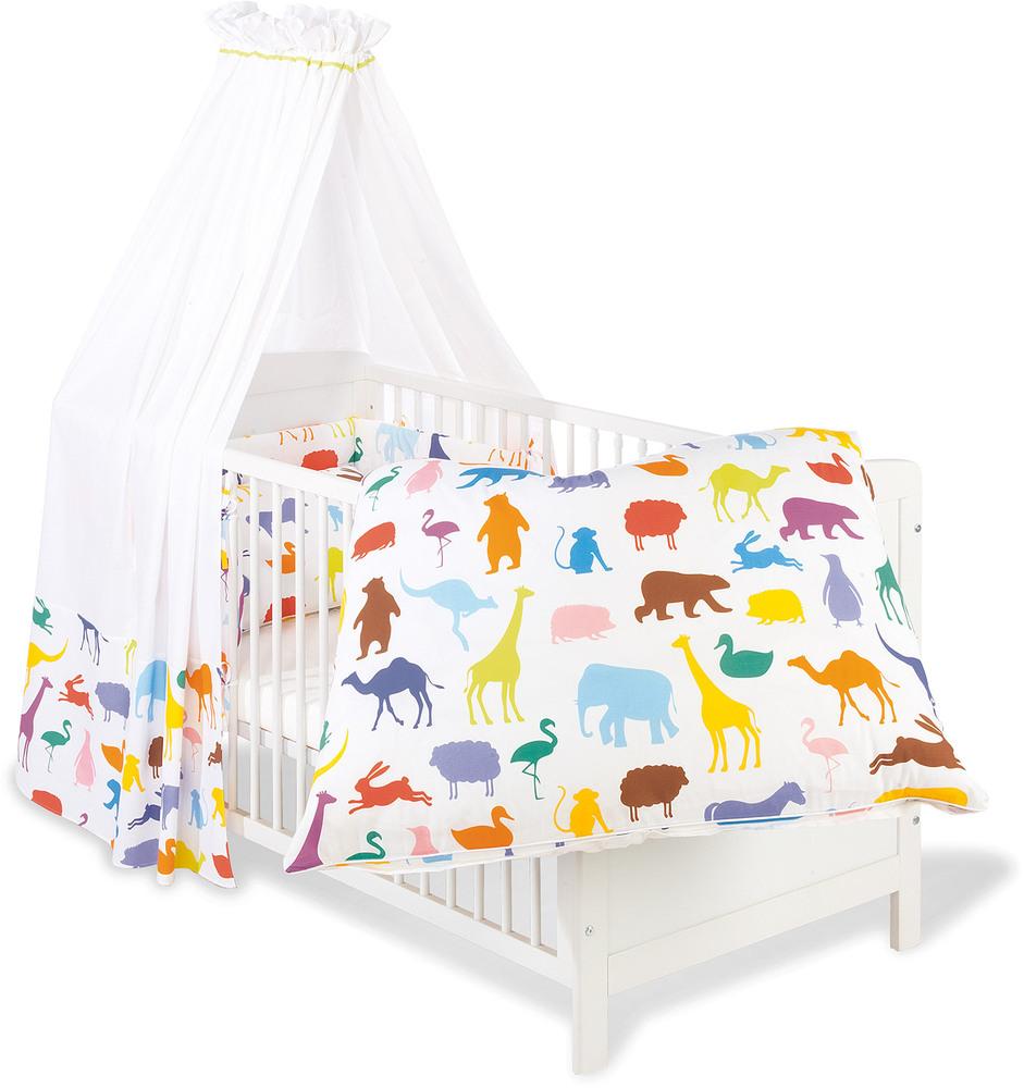Textil-Set für Kinderbett 4-teilig Happy Zoo